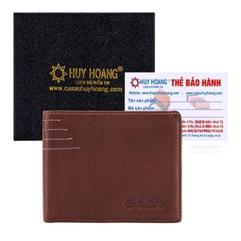 Bóp nam Huy Hoàng viền chỉ màu da HH2128