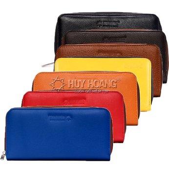 Bóp nữ da bò 1 khóa nhiều màu HH3141-42-43-44-45-46-47-57