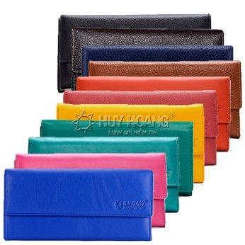 Bóp nữ da bò 3 gấp lửng nhiều màu HH3125-26-27-28-29-30-39-40-59-60-64-65-67