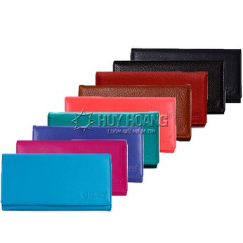 Bóp nữ da bò 3 gấp nhiều màu HH3111-12-13-14-15-24-58-62-63