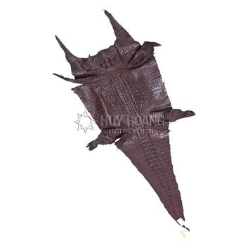 Da thuộc da cá sấu mổ bụng màu nâu đất HH1203