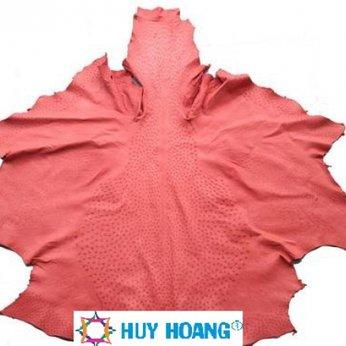Da thuộc da đà điểu mổ mình đà điểu màu đỏ HH1415
