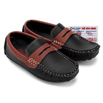 Giày KIDS mọi nam Huy Hoàng màu đen phối nâu đỏ HH7805