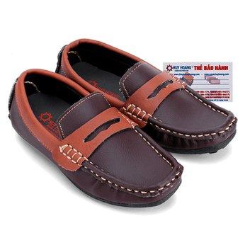 Giày KIDS mọi nam Huy Hoàng màu nâu đất phối nâu đỏ HH7806