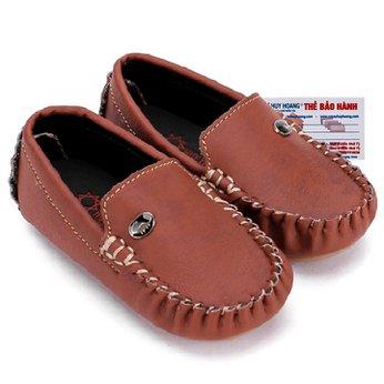 Giày KIDS mọi nam Huy Hoàng màu nâu đỏ phối đá HH7814