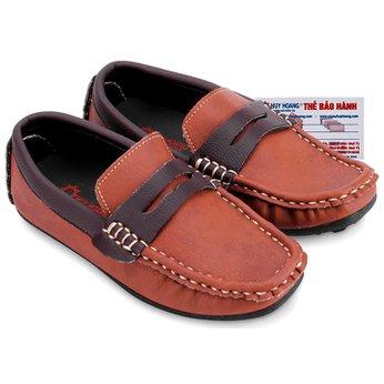 Giày KIDS mọi nam Huy Hoàng màu nâu đỏ phối nâu đất HH7808
