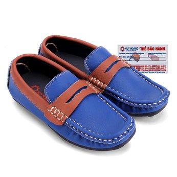 Giày KIDS mọi nam Huy Hoàng màu xanh phối nâu đỏ HH7809