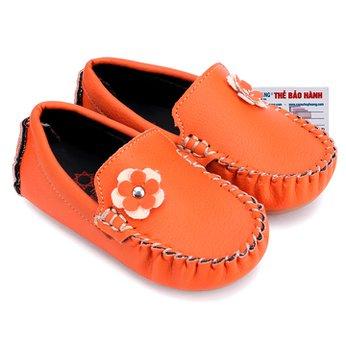 Giày KIDS Nữ Huy Hoàng màu cam phối hoa HH7851
