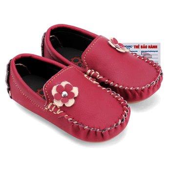 Giày KIDS Nữ Huy Hoàng màu đỏ phối hoa HH7850