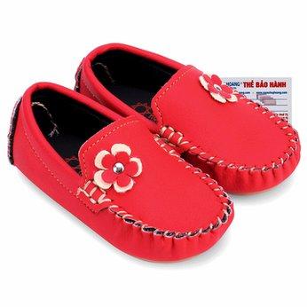 Giày KIDS Nữ Huy Hoàng màu hồng phối hoa HH7853