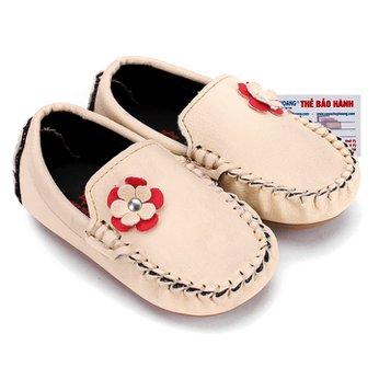 Giày KIDS Nữ Huy Hoàng màu kem phối hoa HH7854