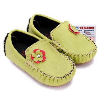 Giày KIDS Nữ Huy Hoàng màu xanh lá phối hoa HH7852