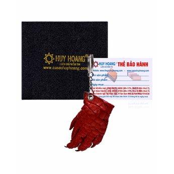 Móc khóa da cá sấu Huy Hoàng màu đỏ HH8213