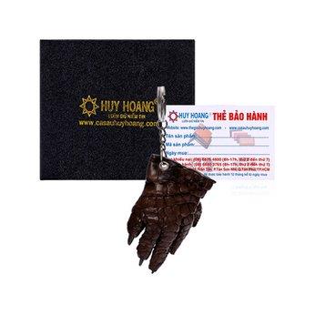 Móc khóa da cá sấu Huy Hoàng màu nâu HH8211