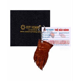 Móc khóa da cá sấu Huy Hoàng màu vàng HH8212