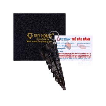 Móc khóa Huy Hoàng da cá sấu gai đuôi màu nâu HH8216