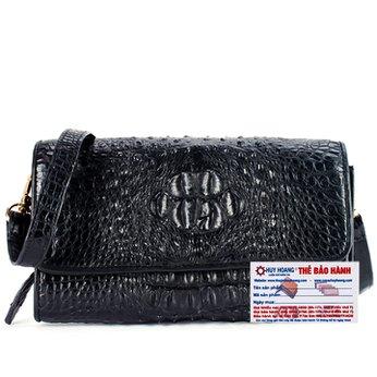 Túi đeo nữ da cá sấu Huy Hoàng màu đen HH6255