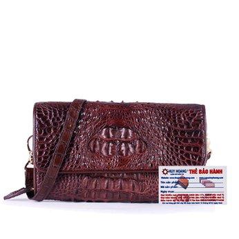 Túi đeo nữ da cá sấu Huy Hoàng màu nâu đất HH6258