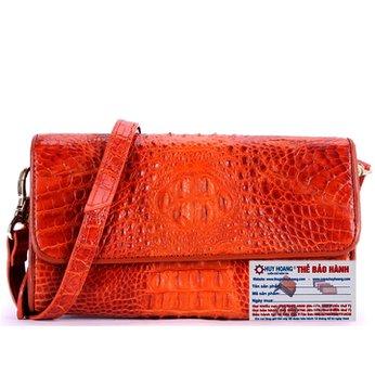 Túi đeo nữ da cá sấu Huy Hoàng màu vàng HH6257