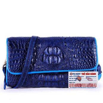 Túi đeo nữ da cá sấu Huy Hoàng màu xanh đậm HH6265