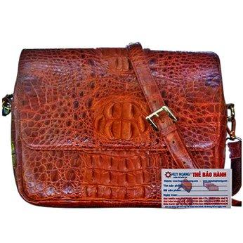 Túi xách da cá sấu Huy Hoàng màu nâu HH6208