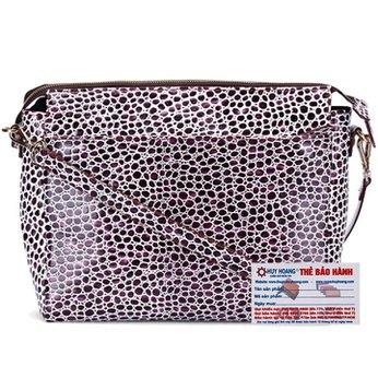 Túi xách đeo chéo Huy Hoàng chấm bi màu tím trắng HH6175