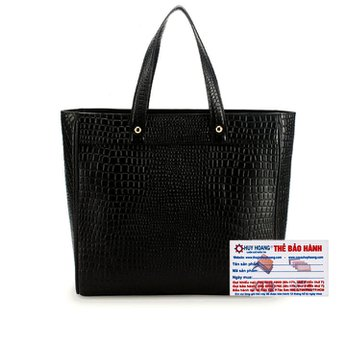 Túi xách Huy Hoàng da bò cao cấp màu đen HH6191