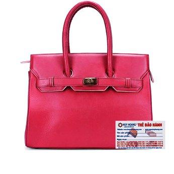Túi xách Huy Hoàng da bò màu hồng HH6181
