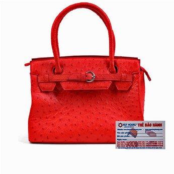 Túi xách Huy Hoàng da đà điểu màu đỏ HH6406