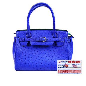 Túi xách Huy Hoàng da đà điểu màu xanh dương HH6405
