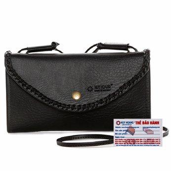 Túi xách Huy Hoàng đan viền màu đen HH6171
