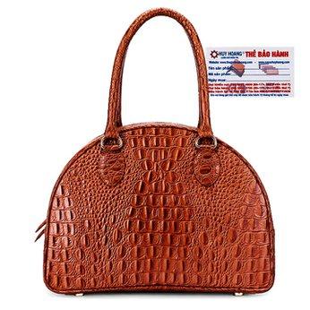 Túi xách Huy Hoàng vân cá sấu màu da HH6174