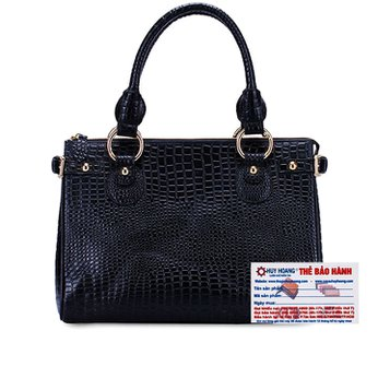 Túi xách Huy Hoàng vân cá sấu màu đen HH6179