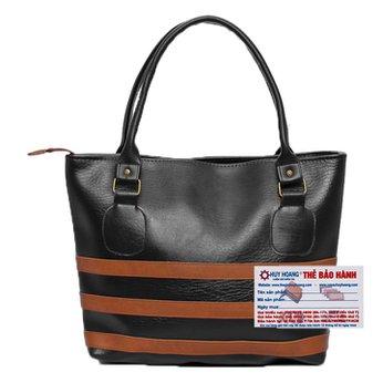 Túi xách viền ngang Huy Hoàng màu đen HH6139