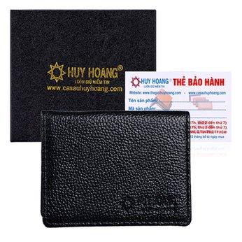 Ví đựng namecard da bò Huy Hoàng màu đen HH9102