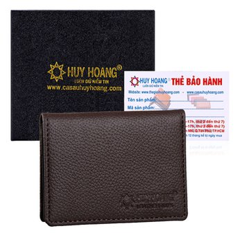 Ví đựng namecard da bò Huy Hoàng màu nâu HH9103