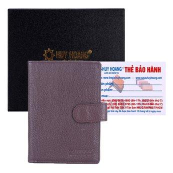 Ví đựng Passport Huy Hoàng bấm nút màu nâu HH9109
