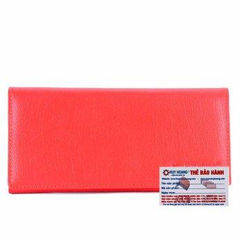 Ví nữ da bò cao cấp Huy Hoàng 3 gấp màu đỏ tươi HH3162