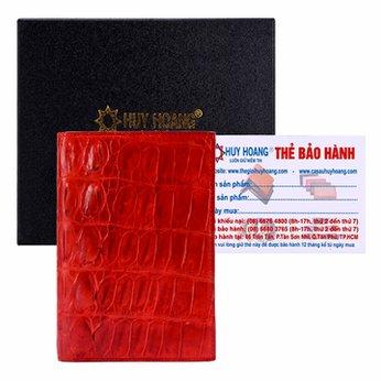 Ví Passport Huy Hoàng da cá sấu màu đỏ HH9204