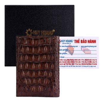 Ví Passport Huy Hoàng da cá sấu màu nâu đất HH9205