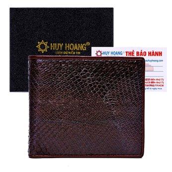 Bóp nam da trăn Huy Hoàng màu nâu HH2303