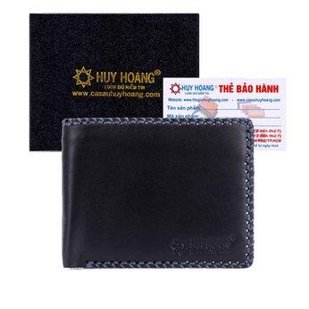 Bóp nam Huy Hoàng đan viền màu đen HH2135