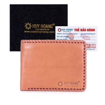 Bóp nam Huy Hoàng đan viền màu da HH2134
