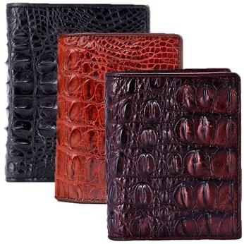 Ví nam da cá sấu đan viền gai lưng kiểu đứng nhiều màu HH2255-2256-2703