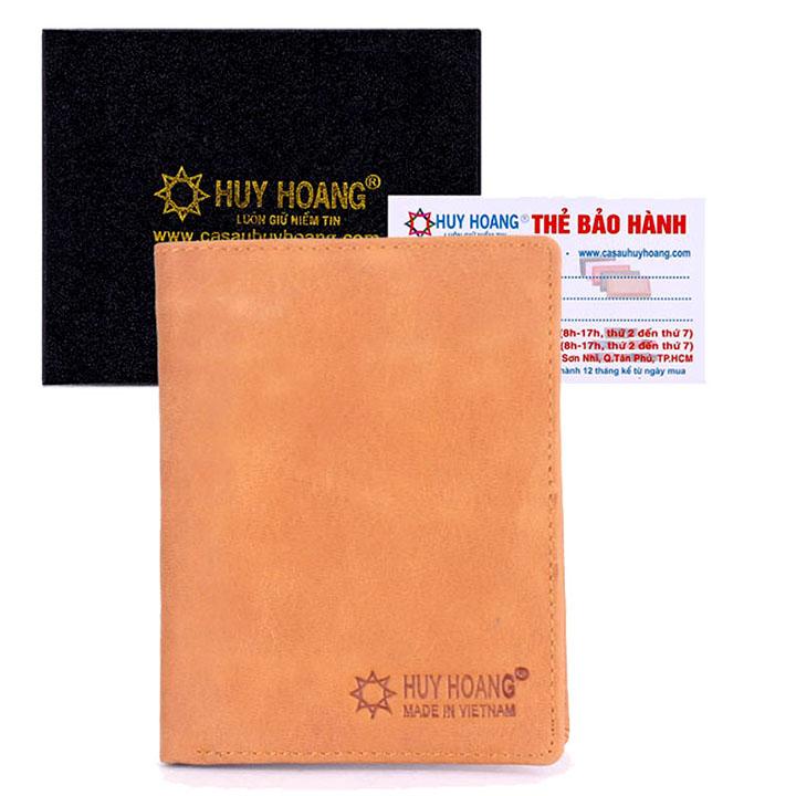 Bóp nam Huy Hoàng kiểu đứng màu da HH2107