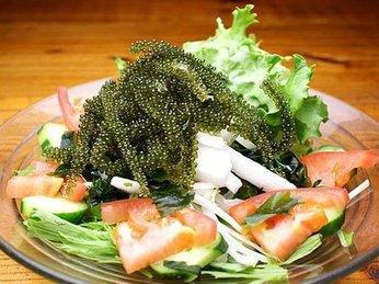 Cách chế biến salad rong nho biển
