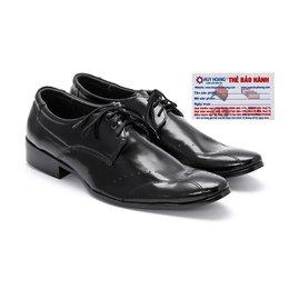 Giày tây nam Huy Hoàng da bò màu đen - HG7102
