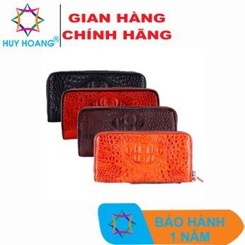 HG3245-46-47-48 - Bóp da cá sấu 1 khóa nguyên con nhiều màu
