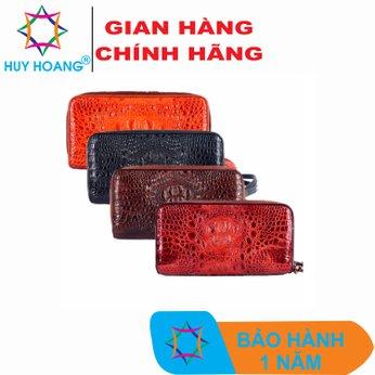 HG3260-61-62-63 - Bóp da cá sấu 2 khóa nguyên con nhiều màu