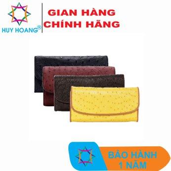 HG3403-04-05-06 - Bóp da đà điểu 3 gấp nhiều màu